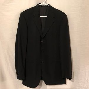 Hugo Boss 40R Suit Wool Black Einstein Sigma IL